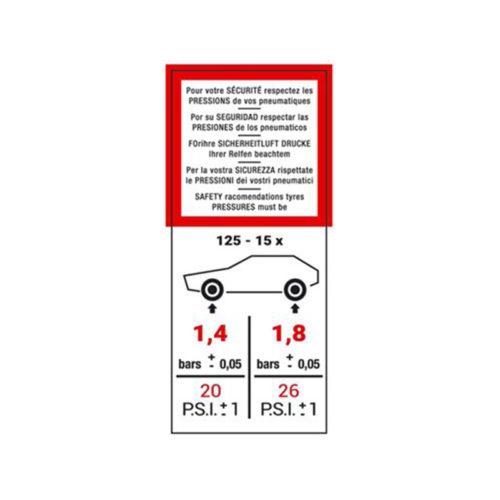 autogarage73 adesivo citroen pressione pneutatici