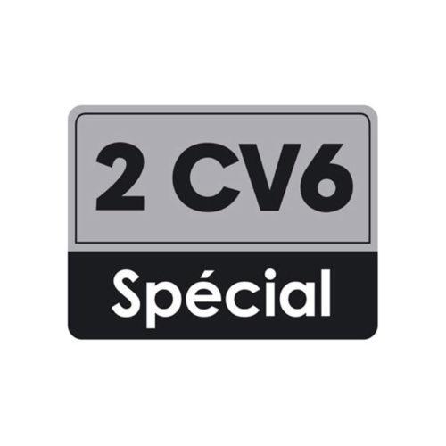 autogarage73 adesivo citroen scritta 2 cv6 special